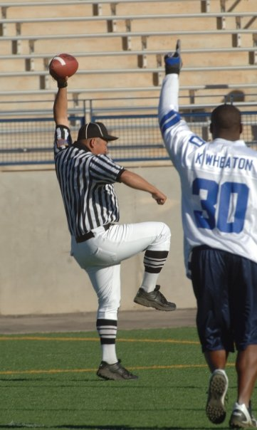Referee Practicing Trick Play